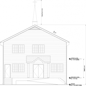 会堂正面図(西側)
