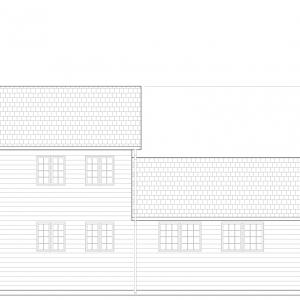 会堂側面図(南側)